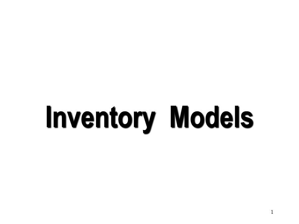 1 Inventory Models