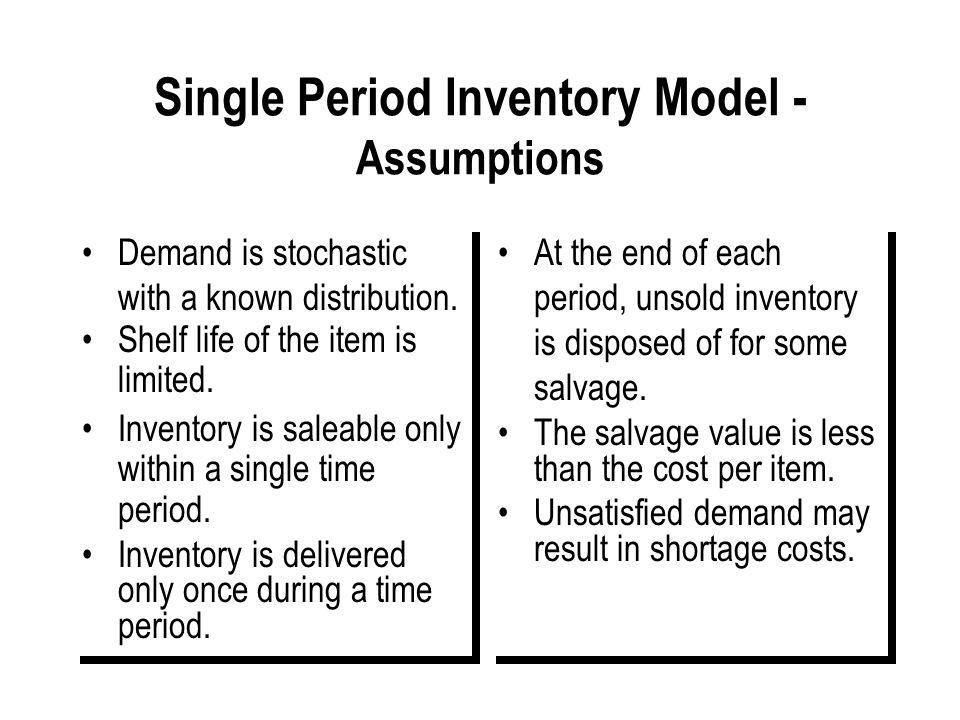 107 Review point AAC operates a (T, M) policy – Solution T SS Inventory position Order Replenishment level Inventory position L Notice: I + Q is desig
