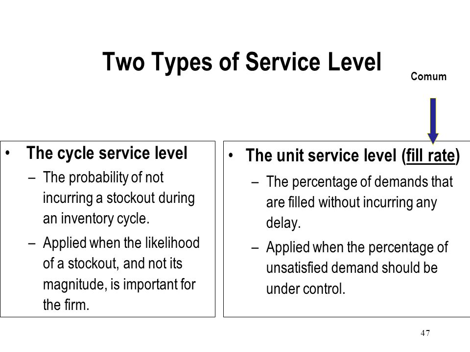 46 Determining Safety Stock Levels Businesses incorporate safety stock requirements when determining reorder points. A possible approach to determinin