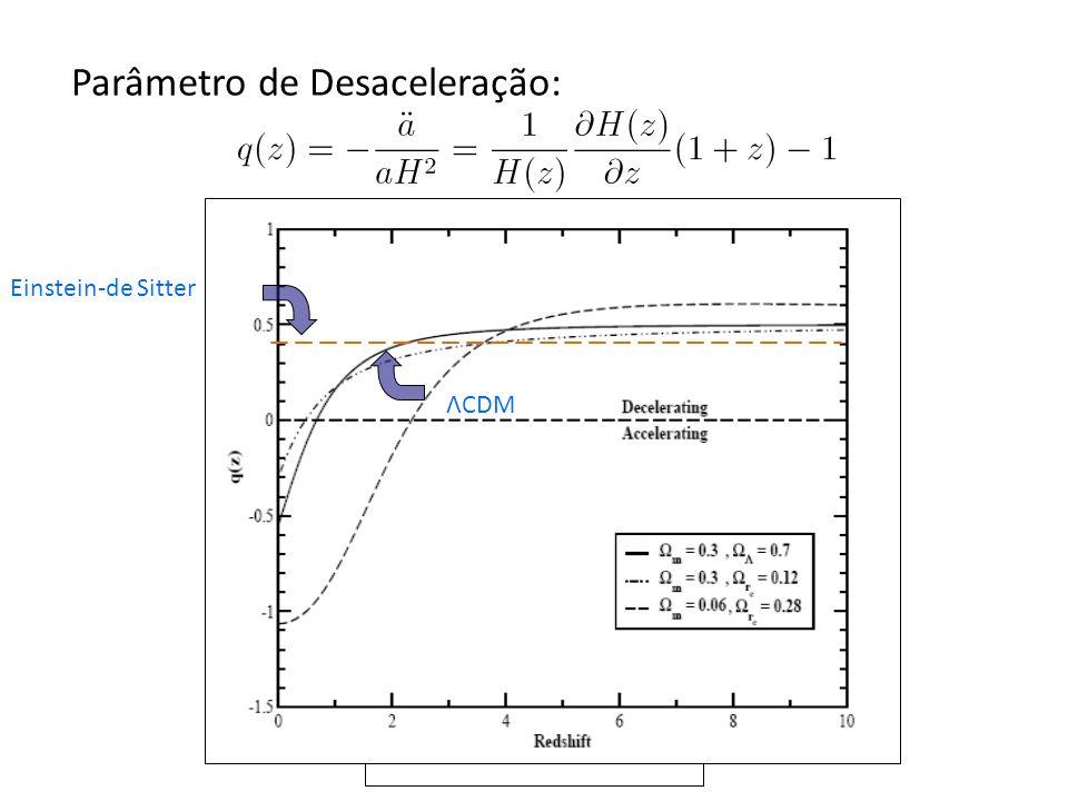 Parâmetro de Desaceleração: Einstein-de Sitter ΛCDM