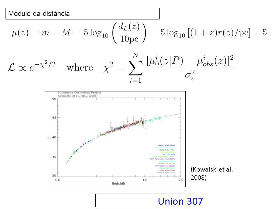 Union 307 (Kowalski et al. 2008) Módulo da distância
