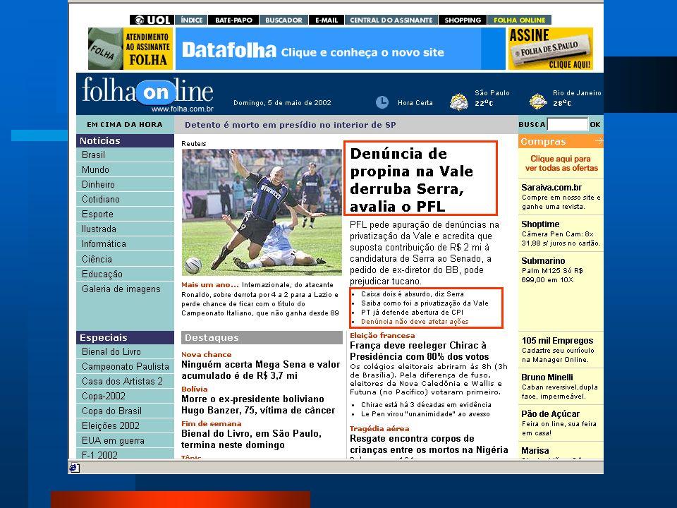 Editorias do Jornal Matéria Principal Agência de Notícias Enquete