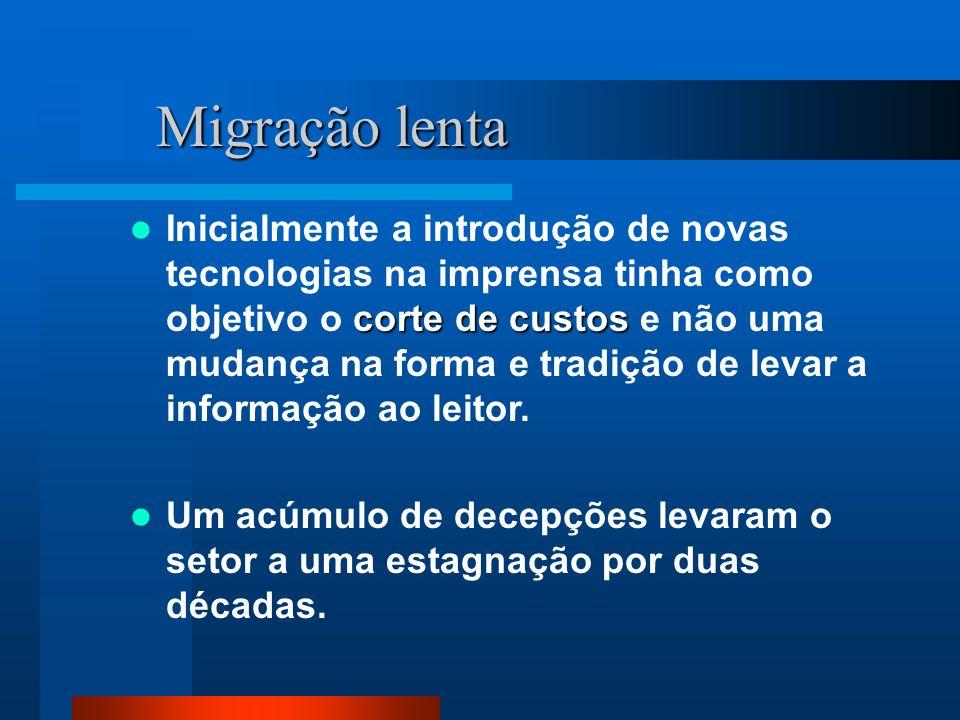 História Jornalismo On-line no Brasil Em 1996, o Universo On-line lançou o Brasil Online, primeiro jornal estruturado com redação própria para a versão on-line.