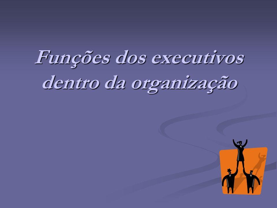 Funções dos executivos dentro da organização