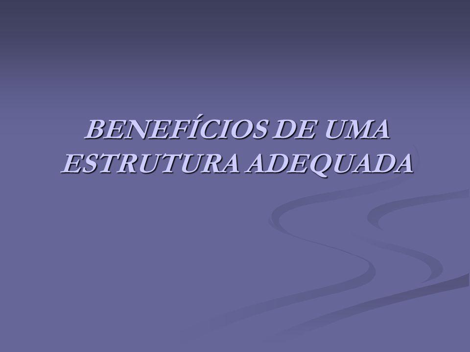 BENEFÍCIOS DE UMA ESTRUTURA ADEQUADA