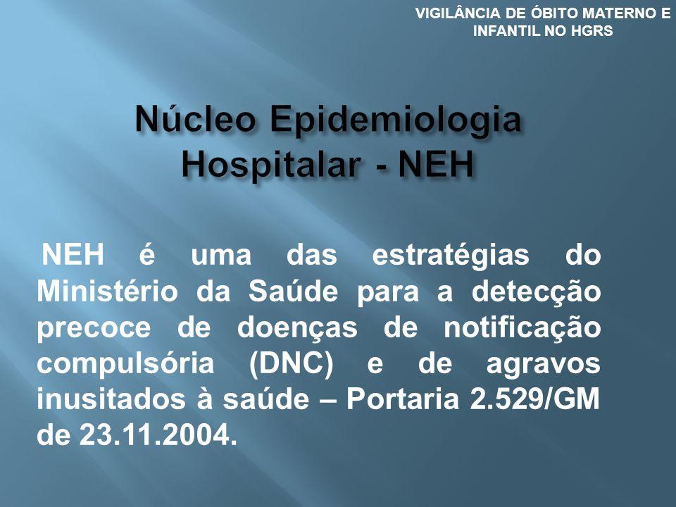 NEH é uma das estratégias do Ministério da Saúde para a detecção precoce de doenças de notificação compulsória (DNC) e de agravos inusitados à saúde –