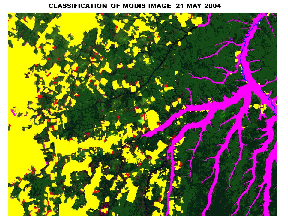 CLASSIFICATION OF MODIS IMAGE 21 MAY 2004