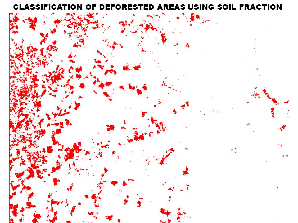 CLASSIFICATION OF DEFORESTED AREAS USING SOIL FRACTION