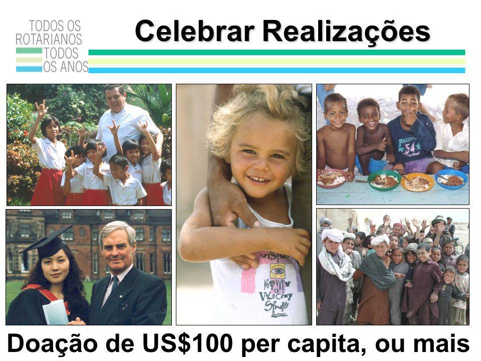 Celebrar Realizações Doação de US$100 per capita, ou mais