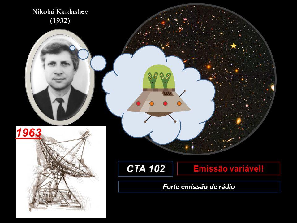 Nikolai Kardashev (1932) 1963 CTA 102 Emissão variável! Forte emissão de rádio