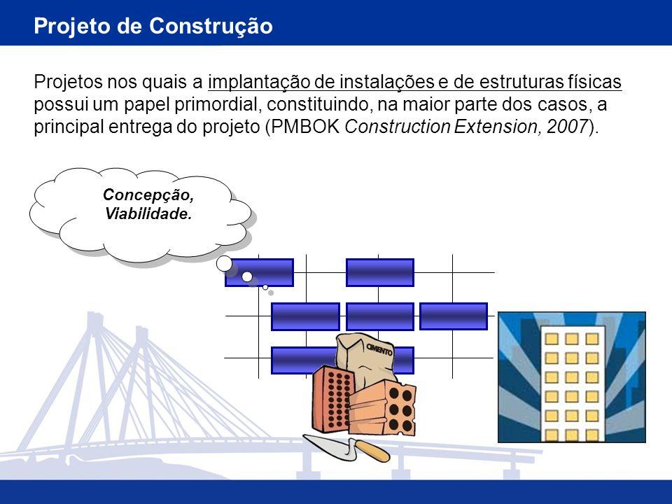 Projetos nos quais a implantação de instalações e de estruturas físicas possui um papel primordial, constituindo, na maior parte dos casos, a principa
