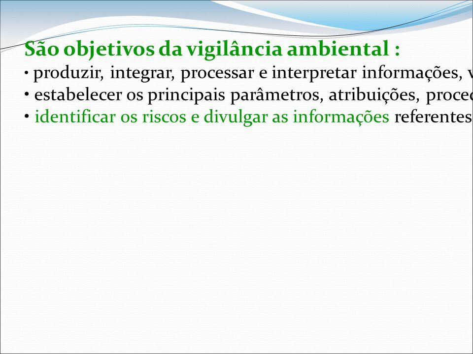 São objetivos da vigilância ambiental : produzir, integrar, processar e interpretar informações, visando a disponibilizar ao SUS instrumentos para o p