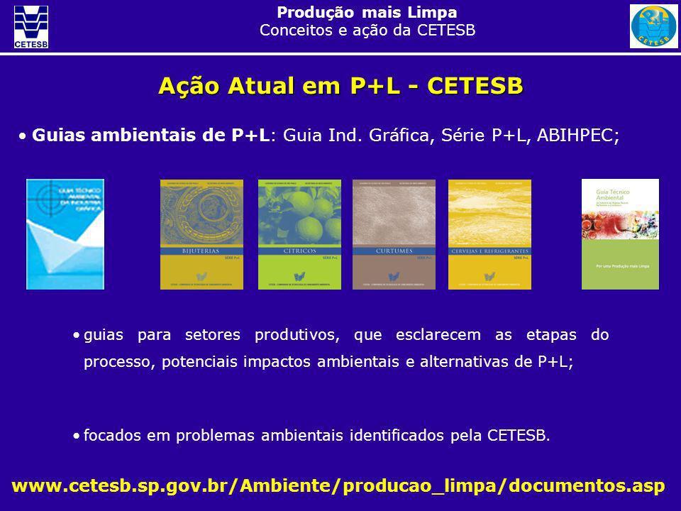Produção mais Limpa Conceitos e ação da CETESB Guias ambientais de P+L: Guia Ind. Gráfica, Série P+L, ABIHPEC; Ação Atual em P+L - CETESB www.cetesb.s