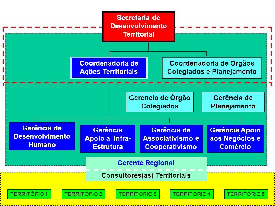 Coordenadoria de Ações Territoriais Gerência de Desenvolvimento Humano Gerência Apoio a Infra- Estrutura Gerência de Planejamento Gerência Apoio aos N