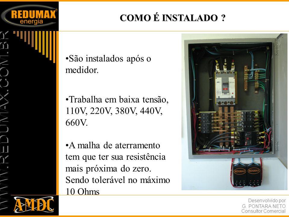 Desenvolvido por G.PONTARA NETO Consultor Comercial COMO AGE O FILTRO DE ENERGIA ELÉTRICA REDUMAX.
