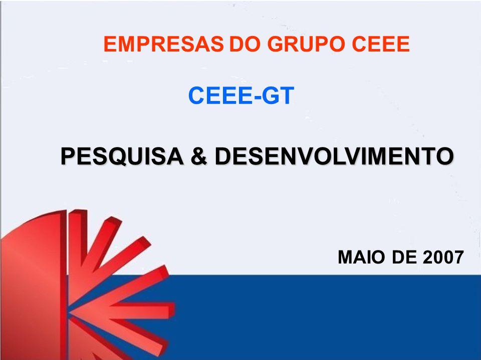 EMPRESAS DO GRUPO CEEE PESQUISA & DESENVOLVIMENTO MAIO DE 2007 CEEE-GT