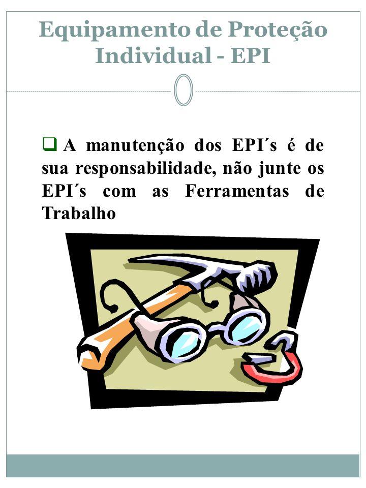 Equipamento de Proteção Individual - EPI Olhe em sua Volta, ser não você poderá ser golpeado pelo acidente. Ser não fosse o Capacete teria leões séria