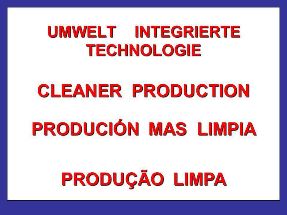 UMWELT INTEGRIERTE TECHNOLOGIE CLEANER PRODUCTION PRODUÇÃO LIMPA PRODUCIÓN MAS LIMPIA