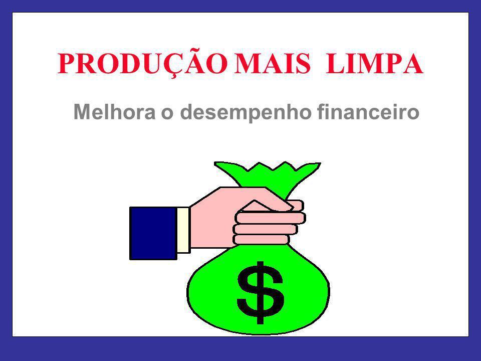 PRODUÇÃO MAIS LIMPA Melhora o desempenho financeiro