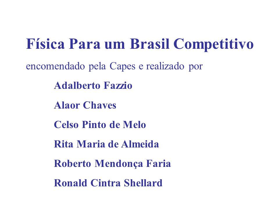 Física Para um Brasil Competitivo encomendado pela Capes e realizado por Adalberto Fazzio Alaor Chaves Celso Pinto de Melo Rita Maria de Almeida Rober
