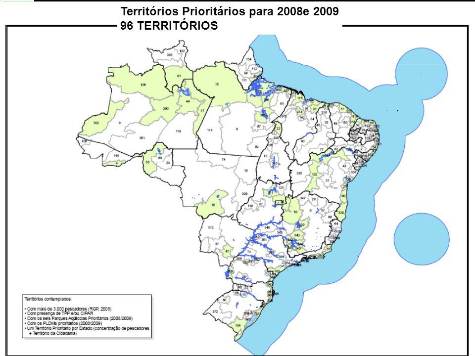 PAULO CESAR ARNS - Convênio SEAP/PR-IADH Territórios Prioritários para 2008e 2009 96 TERRITÓRIOS