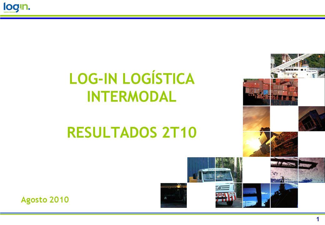 1 LOG-IN LOGÍSTICA INTERMODAL RESULTADOS 2T10 Agosto 2010
