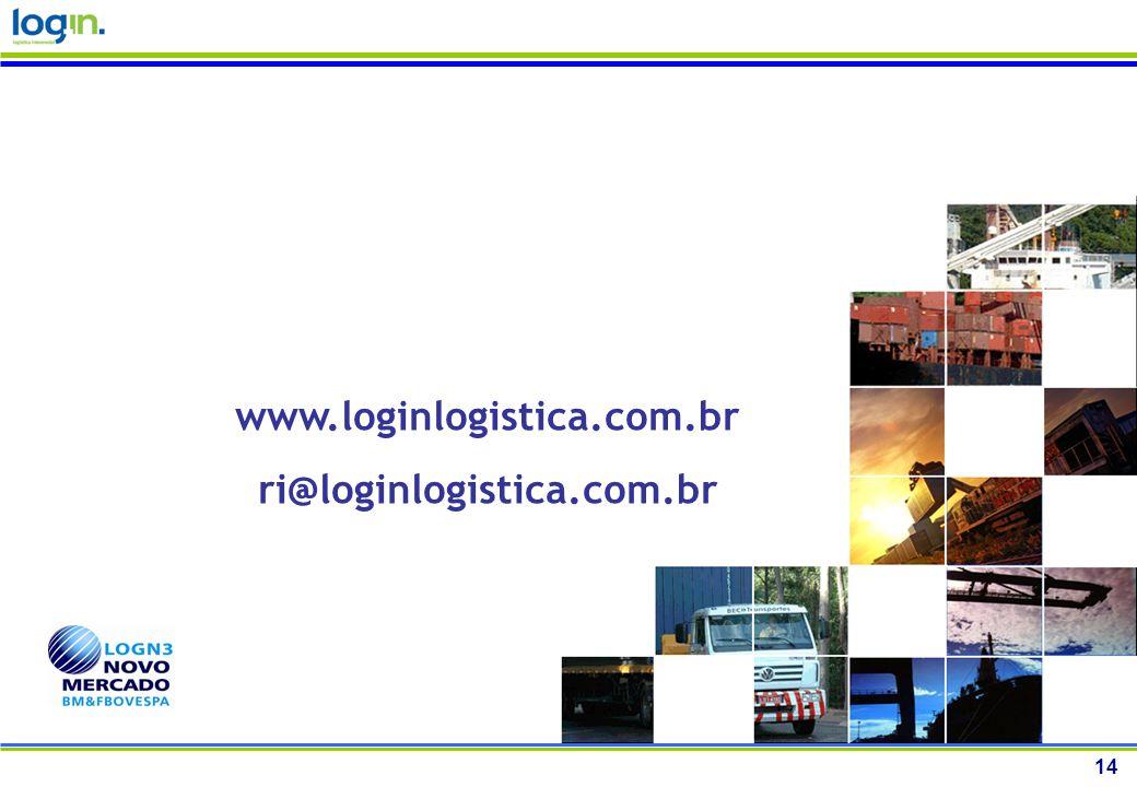 14 www.loginlogistica.com.br ri@loginlogistica.com.br