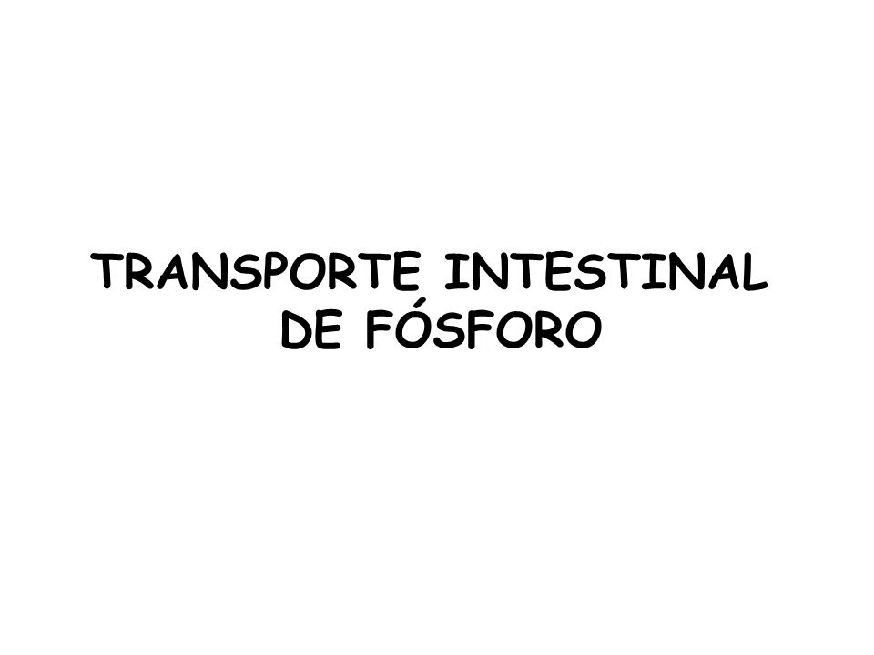TRANSPORTE INTESTINAL DE FÓSFORO