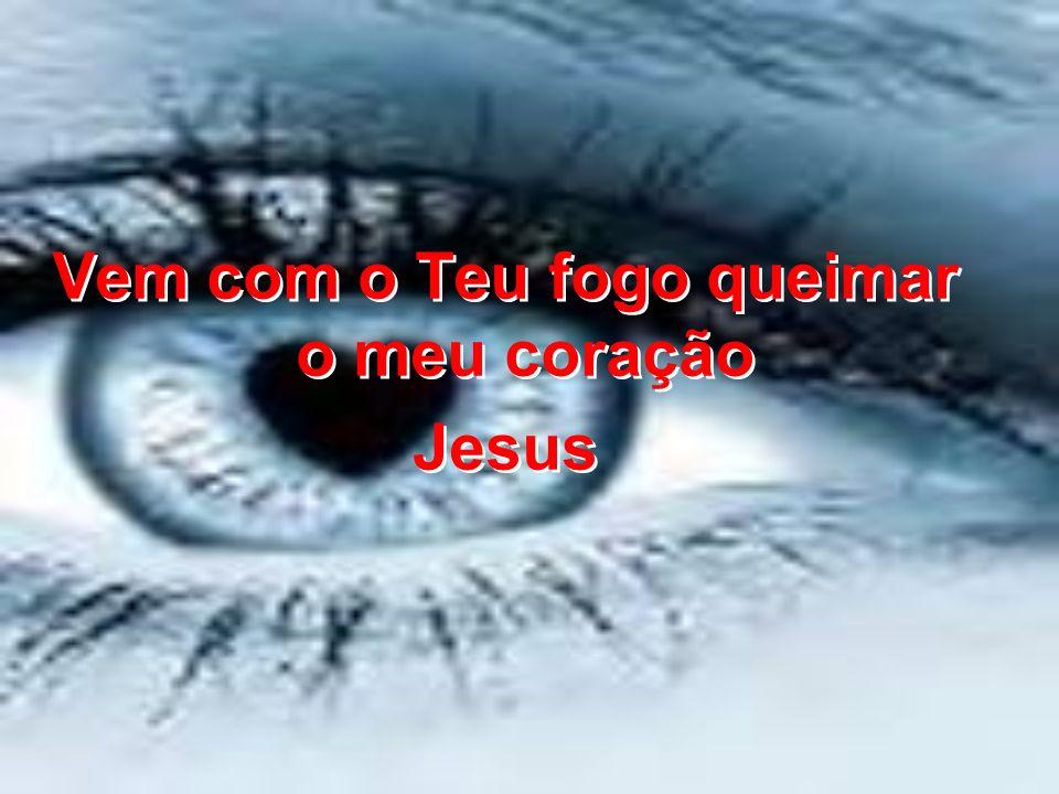 Vem com o Teu fogo queimar o meu coração Jesus Vem com o Teu fogo queimar o meu coração Jesus