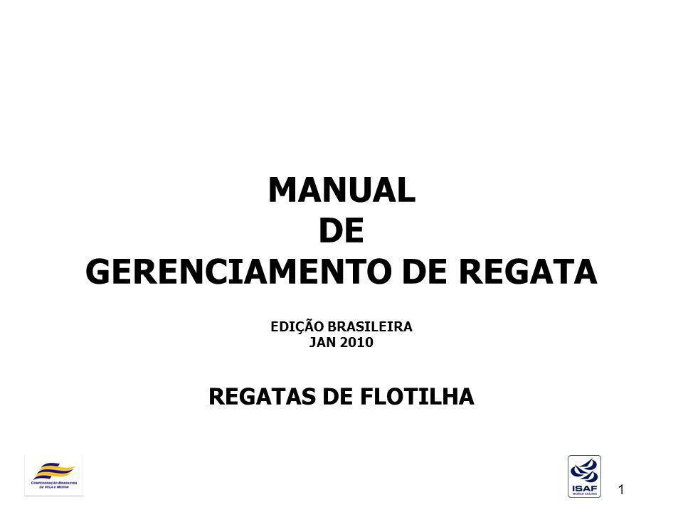 1 MANUAL DE GERENCIAMENTO DE REGATA EDIÇÃO BRASILEIRA JAN 2010 REGATAS DE FLOTILHA