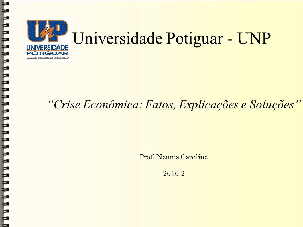 Universidade Potiguar - UNP Crise Econômica: Fatos, Explicações e Soluções Prof. Neuma Caroline 2010.2
