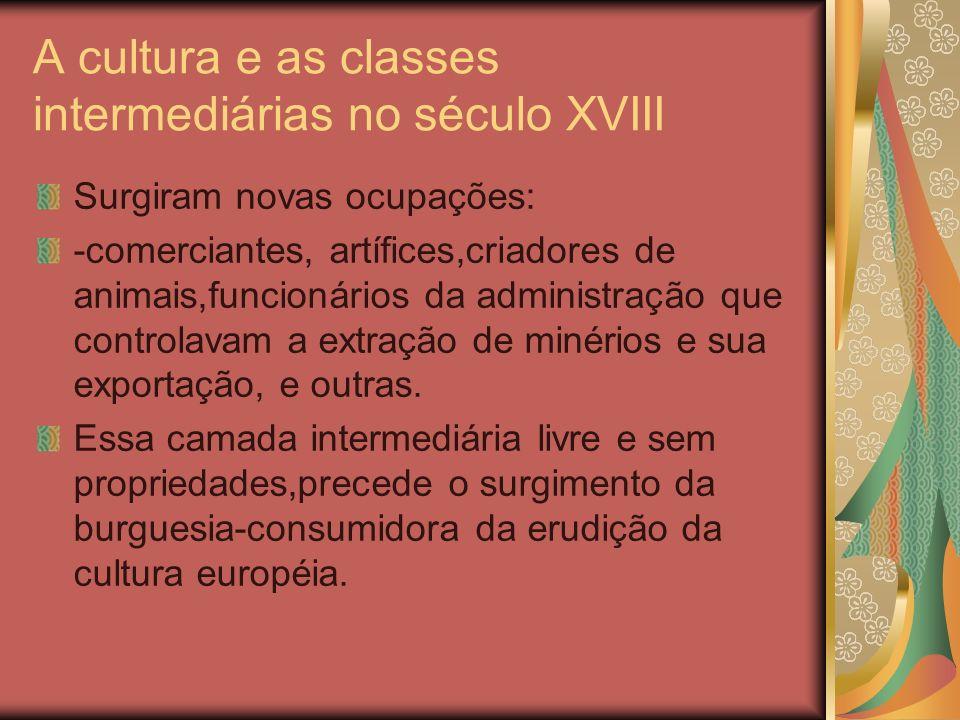 A cultura da corte e o século XIX Em 1808 houve a transferência da corte joanina para o Brasil.