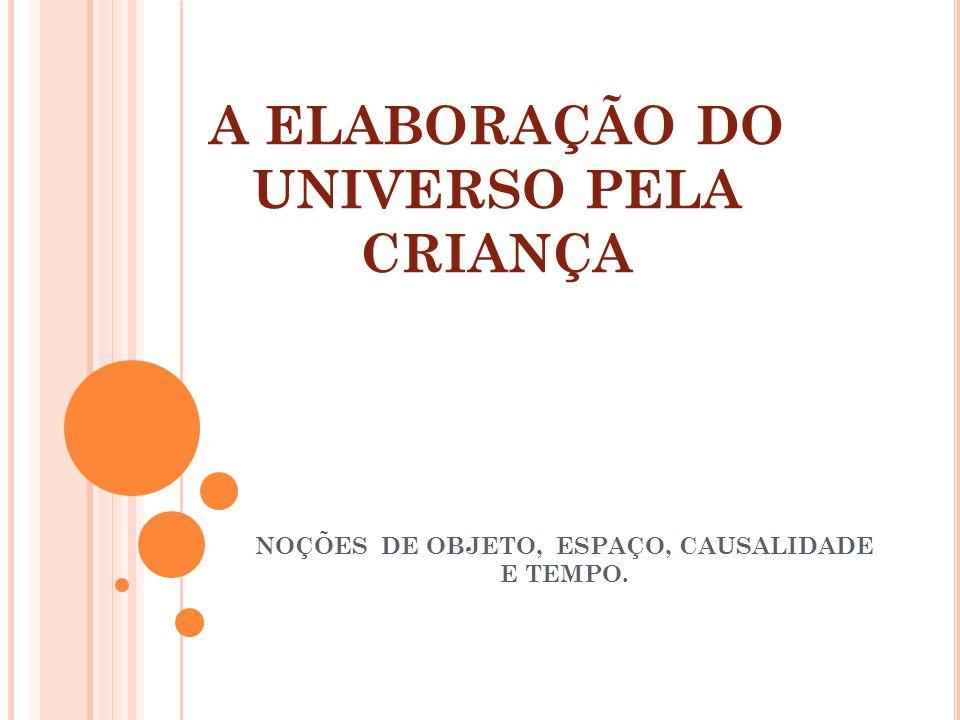 A ELABORAÇÃO DO UNIVERSO PELA CRIANÇA NOÇÕES DE OBJETO, ESPAÇO, CAUSALIDADE E TEMPO.