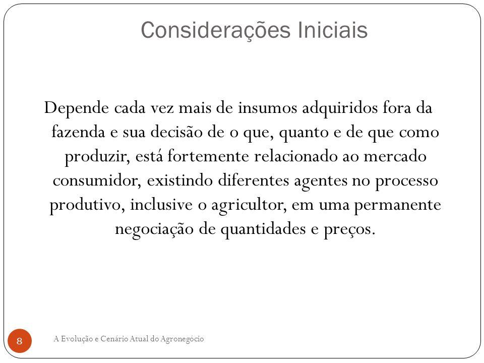 PERSPECTIVAS PARA O AGRONEGÓCIO BRASILEIRO As perspectivas são promissoras.