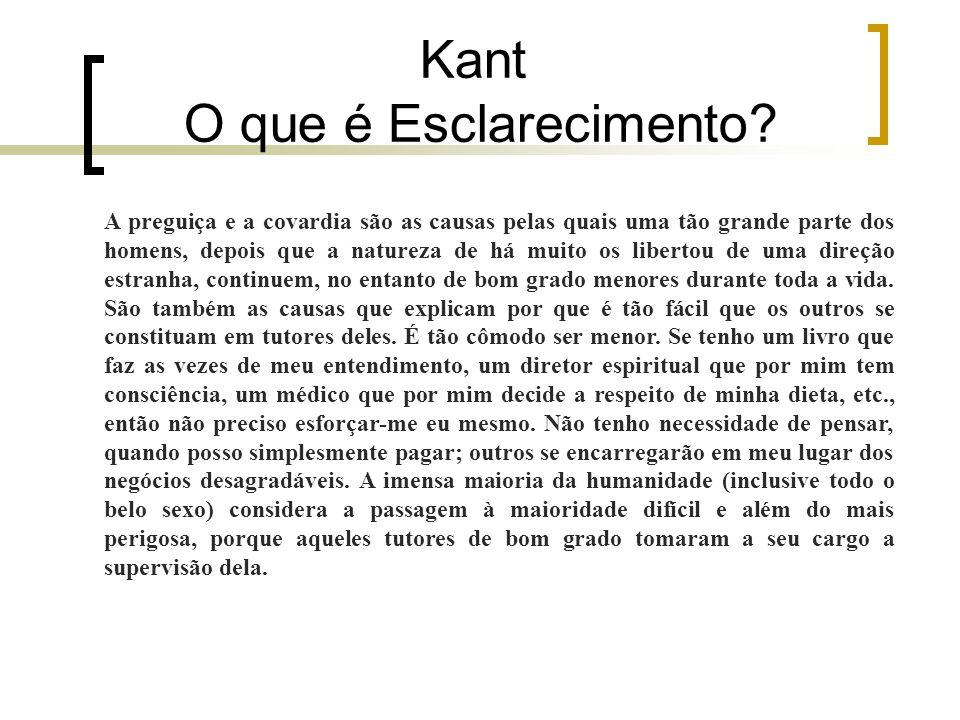 Kant O que é Esclarecimento.