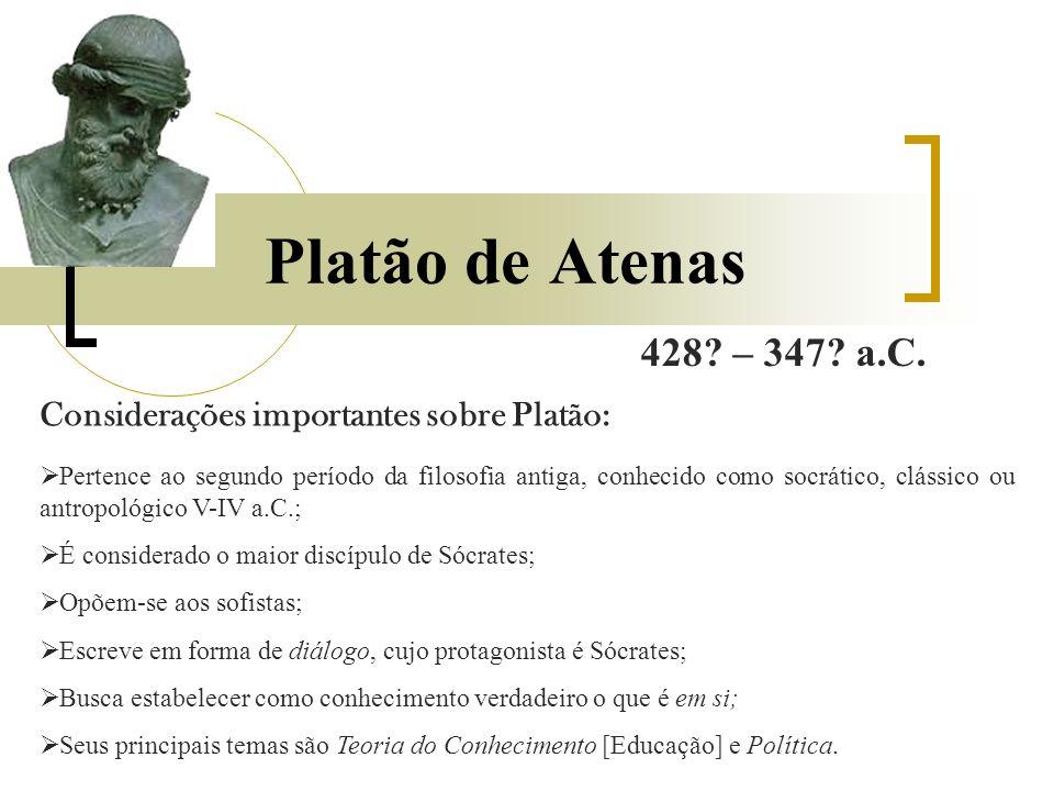 Platão de Atenas 428. – 347. a.C.