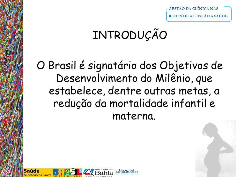 GESTÃO DA CLÍNICA NAS REDES DE ATENÇÃO À SAÚDE INTRODUÇÃO O Brasil é signatário dos Objetivos de Desenvolvimento do Milênio, que estabelece, dentre ou