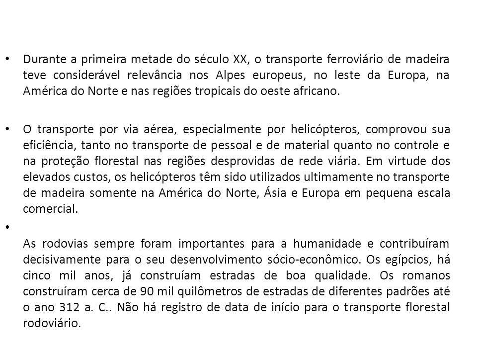 O Brasil ficou fora de grande parte da história da evolução do transporte, participando praticamente como usuário, pegando tudo pronto, já experimentado, o que foi benéfico, na maioria dos casos com algumas exceções como as ferrovias, pois ficamos com as sobras de outros países, com sistemas obsoletos e com já descartados pela Inglaterra e Estados Unidos