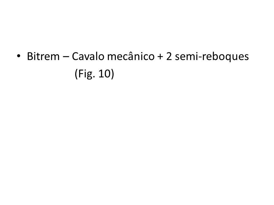 Bitrem – Cavalo mecânico + 2 semi-reboques (Fig. 10)
