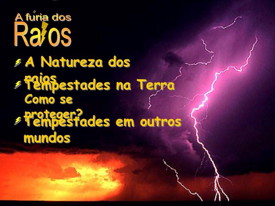 A Natureza dos raios Tempestades na Terra Como se proteger? Tempestades em outros mundos