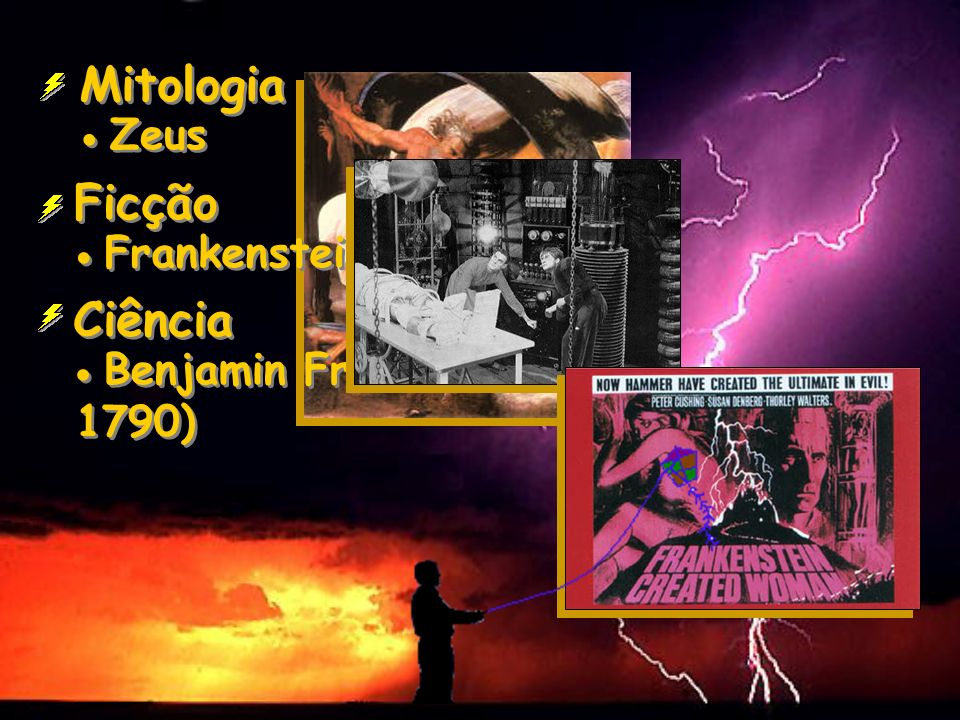 Mitologia Zeus Ficção Frankenstein Ciência Benjamin Franklin (1706- 1790)