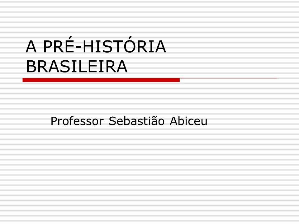 A PRÉ-HISTÓRIA BRASILEIRA Professor Sebastião Abiceu