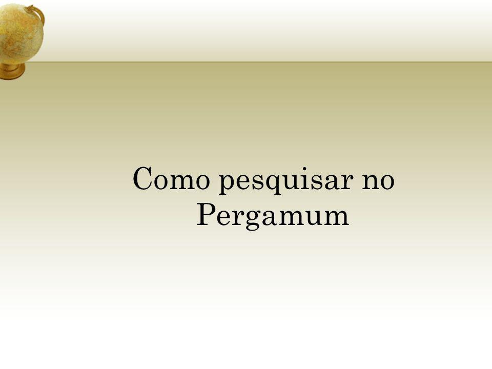 Como pesquisar no Pergamum
