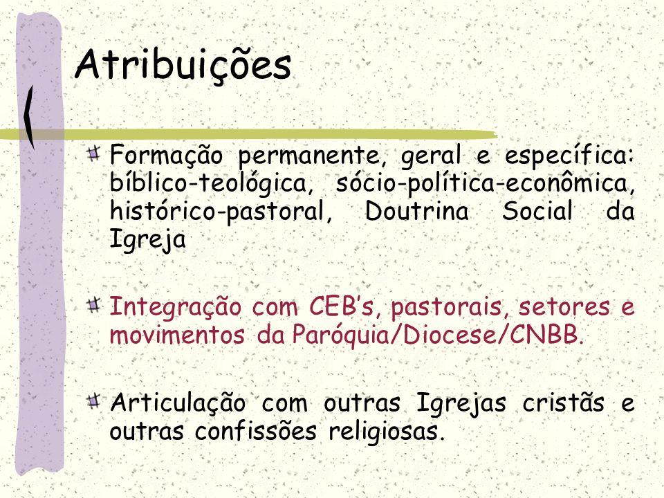 Formação permanente, geral e específica: bíblico-teológica, sócio-política-econômica, histórico-pastoral, Doutrina Social da Igreja Integração com CEB