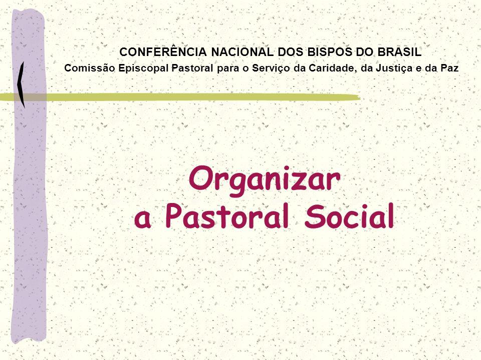 CONFERÊNCIA NACIONAL DOS BISPOS DO BRASIL Comissão Episcopal Pastoral para o Serviço da Caridade, da Justiça e da Paz Organizar a Pastoral Social