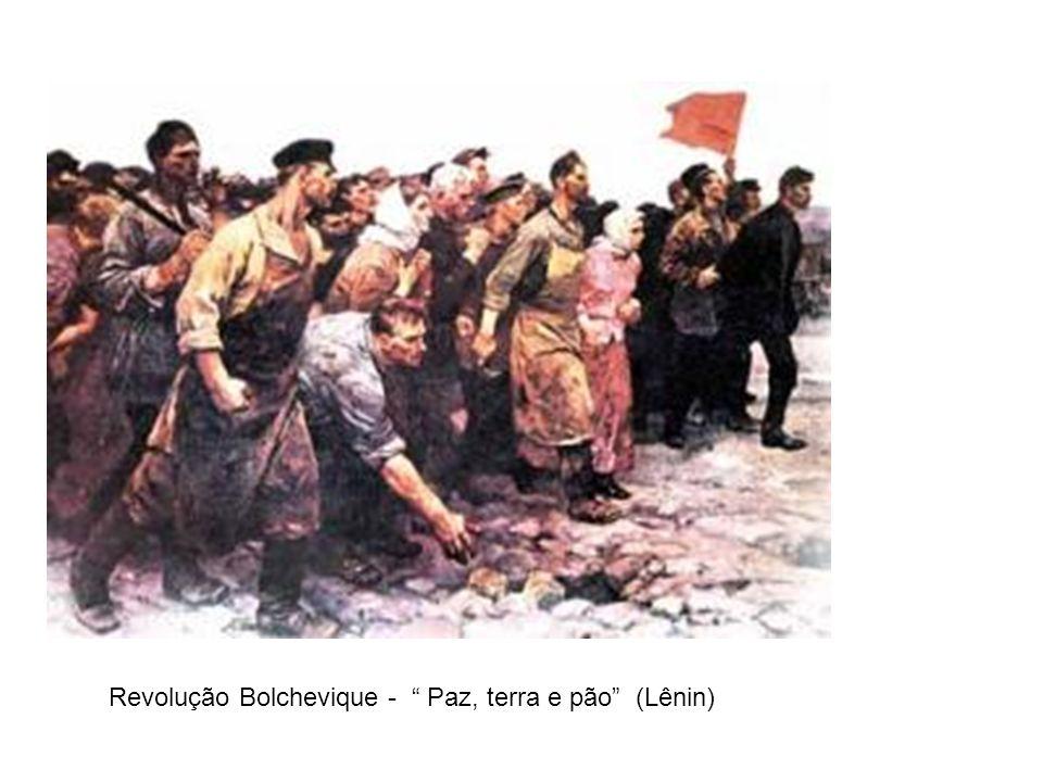 Revolução Bolchevique - Paz, terra e pão (Lênin)