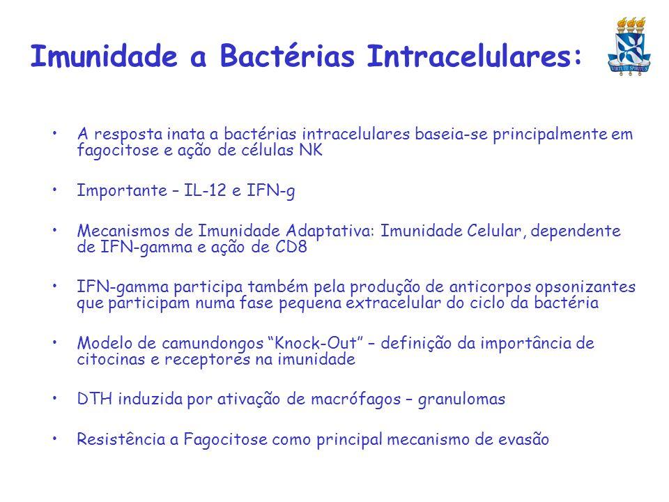 Imunidade a Bactérias Intracelulares: A resposta inata a bactérias intracelulares baseia-se principalmente em fagocitose e ação de células NK Importan