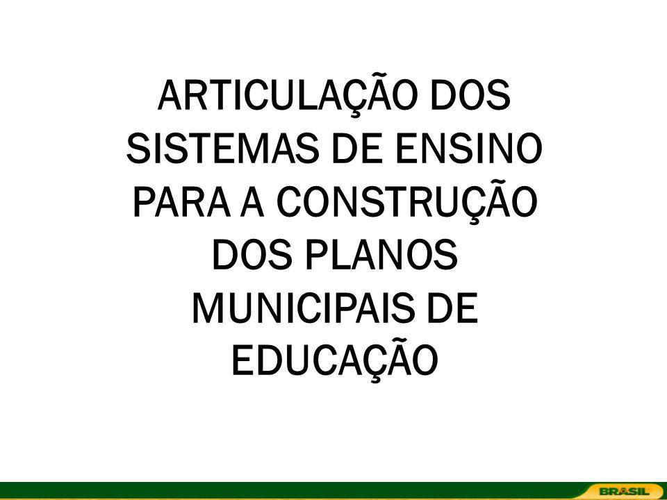 ARTICULAÇÃO DOS SISTEMAS DE ENSINO PARA A CONSTRUÇÃO DOS PLANOS MUNICIPAIS DE EDUCAÇÃO