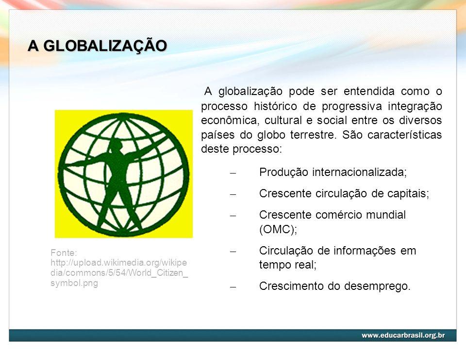 A GLOBALIZAÇÃO A globalização pode ser entendida como o processo histórico de progressiva integração econômica, cultural e social entre os diversos pa