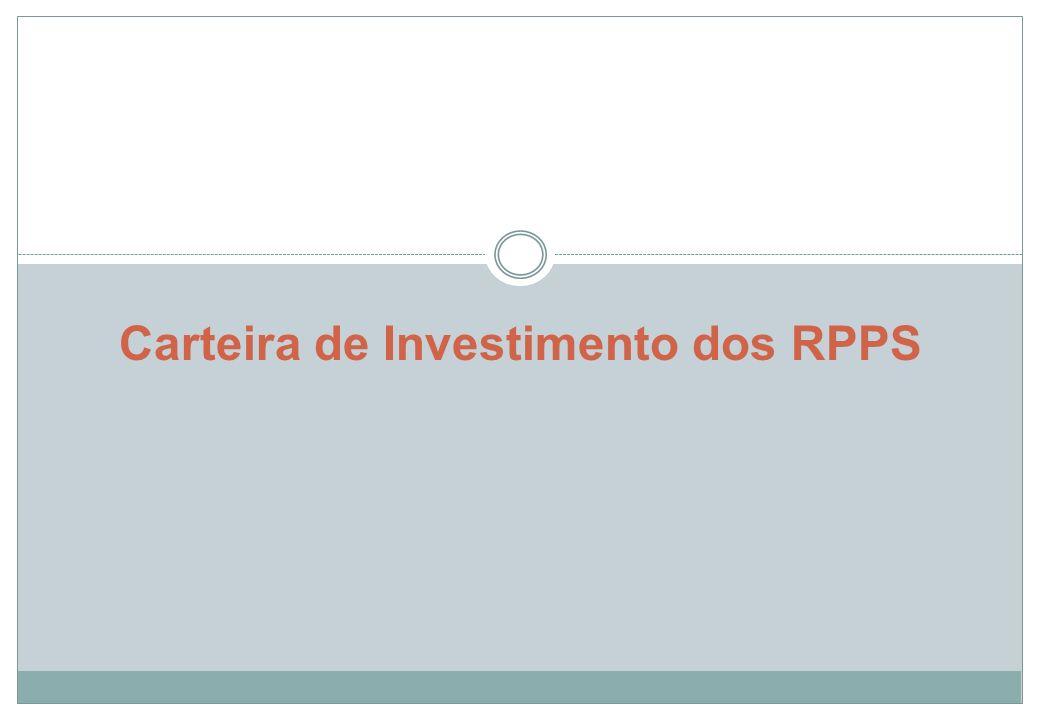 Carteira de investimentos dos RPPS A Resolução CMN 3.922/2010 dispõe sobre as aplicações de recursos dos regimes próprios de previdência social instituídos pela União, pelos Estados, pelo Distrito Federal ou por Municípios.